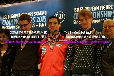 Maxim KOVTUN  (RUS),  Javier FERNANDEZ (RUS) and  Sergei VORONOV (RUS )