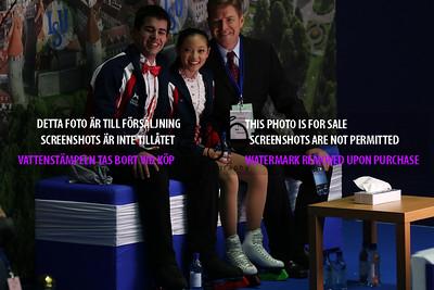 Chelsea LIU / Brian JOHNSON and coach Todd SAND