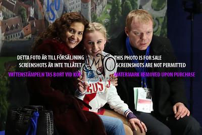 Serafima SAKHANOVICH and coaches Eteri Tutberidze, Sergei Dudakov