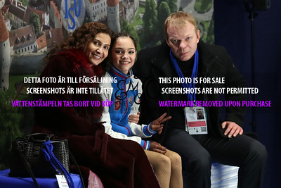 Evgenia MEDVEDEVA and coaches Eteri Tutberidze, Sergei Dudakov
