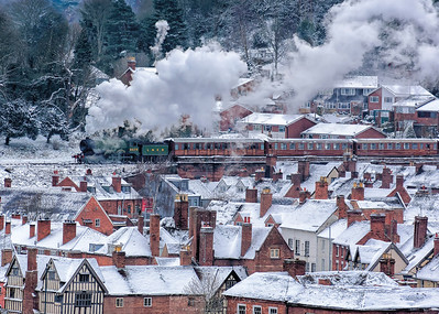 8572 over the rooftops of Bewdley