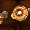Lighted ceiling lamps in Seychelles.