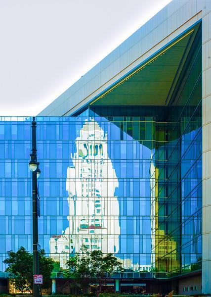 Reflection of LA City Hall