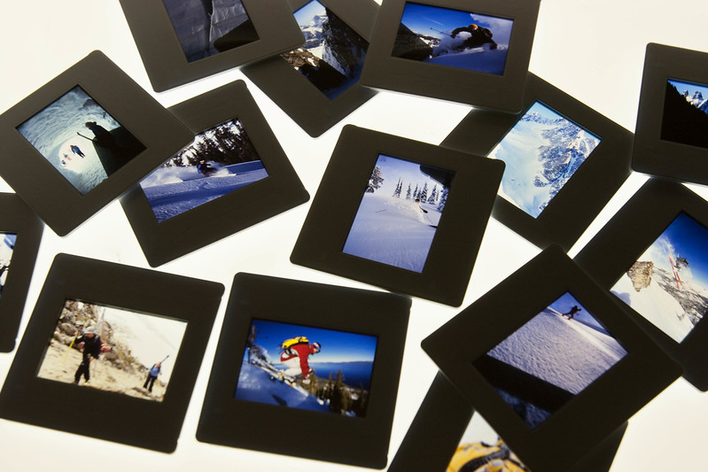 Old Slides of Skiing