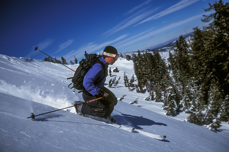 Telemark Skiing Donner Pass