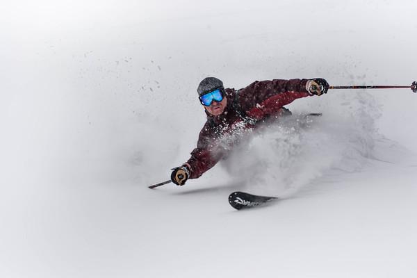 Powder Telemark Skier
