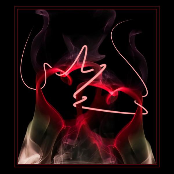 Entwined Smoke hearts
