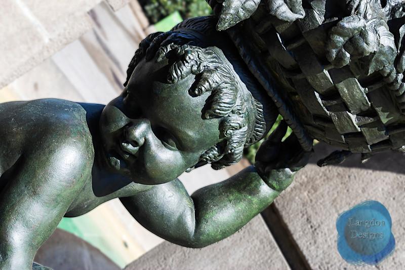 Barcelona Child Statue