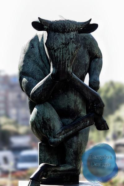 Barcelona Bull Statue