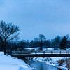 Winter Bridge Scene