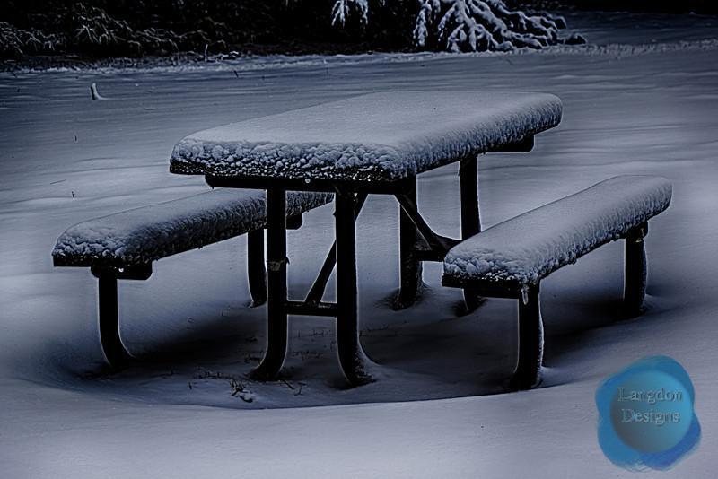 Snowy Table