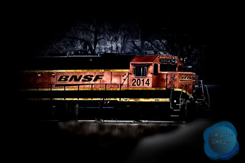 BNSF Train Solarization