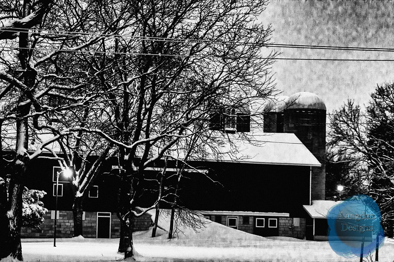 Farm in the Snow