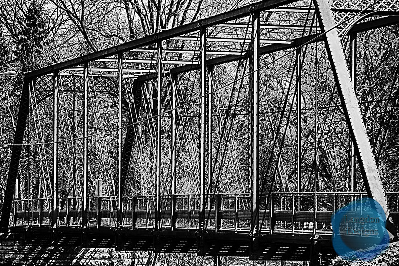 The One Lane Bridge Black and White