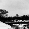 Winter Bridge Scene Black and White