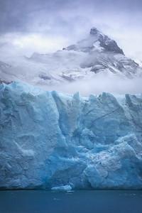 Argentina, Parque Nacional Los Glaciares: This picture of the terminus of the 5 km (3.1 mile) wide Perito Moreno Glacier in Argentine Patagonia was taken from Lago Argentino.