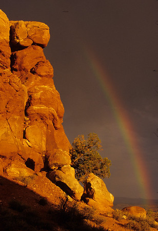 Rainbow at Arches