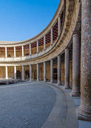The Palace of Charles V in Alhambra, Granada