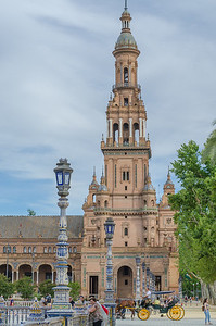 The South tower in Plaza de España in Seville