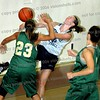 Woodland Hills, CA - Girls championship game at the War on the Floor Tournament between Notre Dame and Canyon help at Taft High School on June 27, 2006.