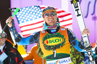 10.3.2012., Kranjska Gora, Slovenia - LIGETY Ted (USA) Winner of Saturdays Men Giant Slalom race of Audi FIS alpine skiing World Cup 2011-2013 on March 10, 2012 in Kranjska Gora, Slovenia. Photo: Saso Domijan/sportimage.si