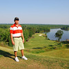 Justin on hole #1 The Judge course RTJ golf trail, Prattville, Alabama
