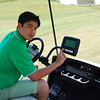 Golf cart with GPS