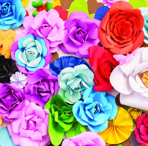 36. Stretch Fabric Backdrop - Giant Flower Paper