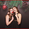 46. Stretch Fabric Backdrop - Black with red Christmas ornaments