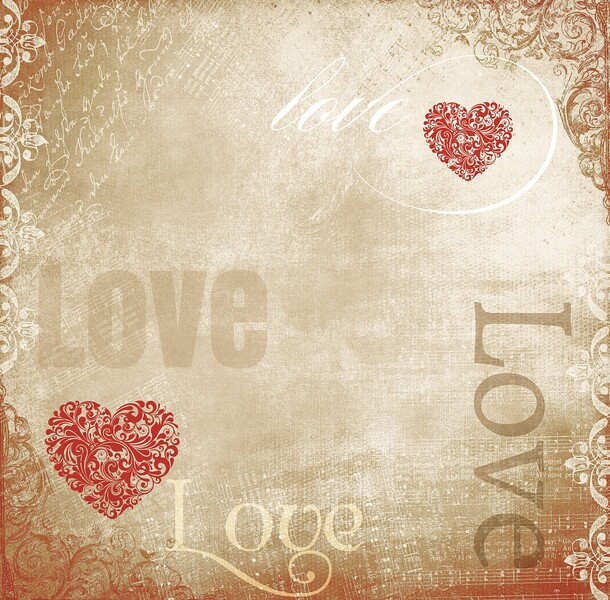 37. Stretch Fabric Backdrop - Love Red Heart