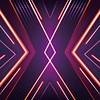 47. Stretch Fabric Backdrop - Glow lights - Neon X