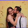 45. Stretch Fabric Backdrop - Gold with confetti