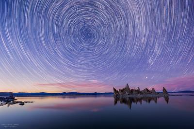 Mono Lake South Tufa Star trails