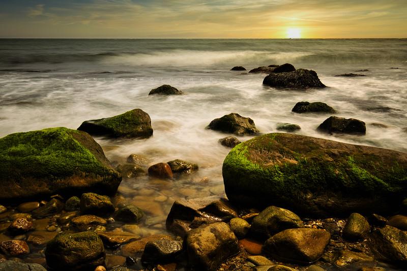 sunset Montauk beach