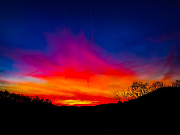 Painted Sunset in the Sky