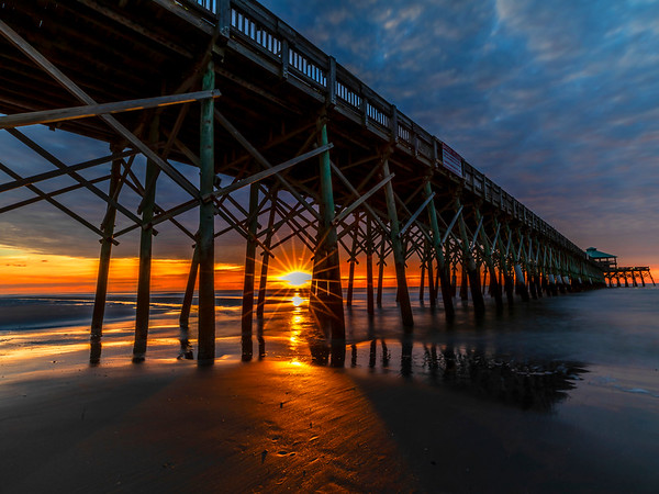 Sunrise on Folly Beach Pier