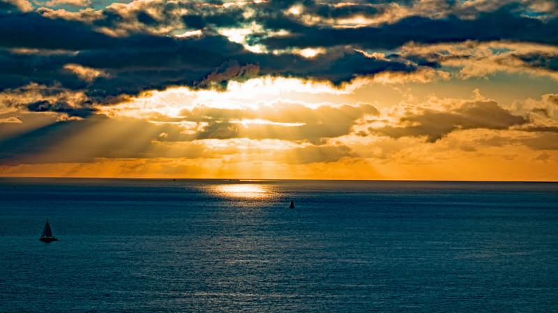 Sunset in Oahu, Hawaii
