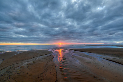 Sunset at Rossall Beach on Cleveleys Seafront