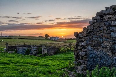 Sunset near the Old Farm at Mellor, Blackburn, UK