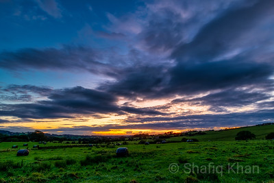 Sunset at Whinney Lane, Blackburn, Lancashire