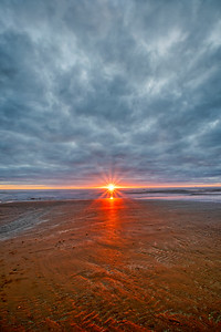 Sunset at Rossall Beach on the Cleveleys Seafront