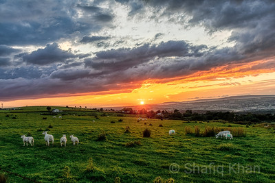 Sunset at Mellor, Blackburn, Lancashire