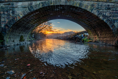 Sunset at Butlers Bridge, Pleasington, Blackburn