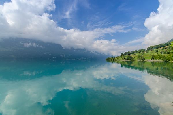 Water reflections in Lake Brienz, Interlaken