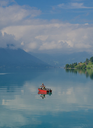 Fishing, lake Brienz