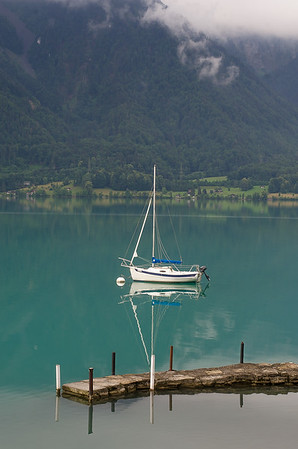 Early morning reflections in Lake Brienz