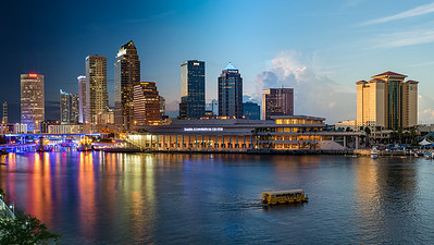 Tampa's Transition from Golden Hour to Twilight