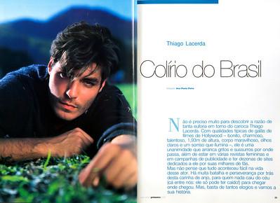 Thiago Lacerda, ator, Rio de Janeiro, 2000, Brasil.