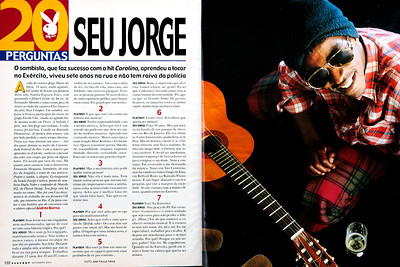Seu Jorge, músico, São Paulo, 2001, Brasil.