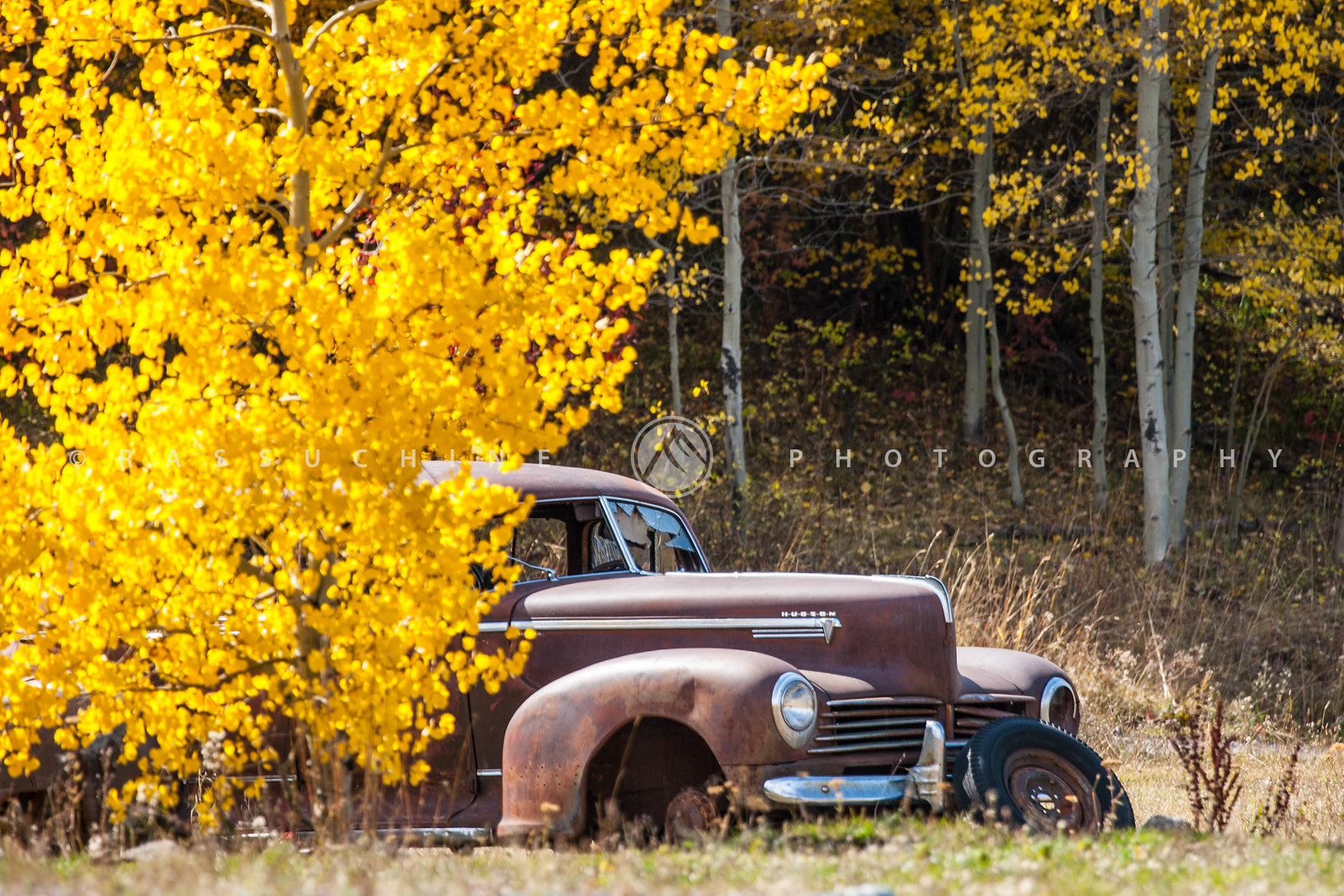 Old Car in Fall Colors